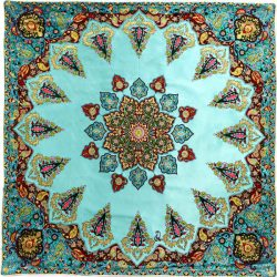 Termeh, Persian Style Tapestry Silk Tablecloth Code 57