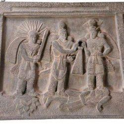 Coronation of Ardashir II Tablet Statue FG330