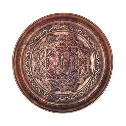 Persian Handmade Engraved Copper tray Code 2031