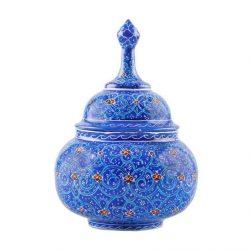 MinaKari Persian Hand Painted Candy Pot Model 170156