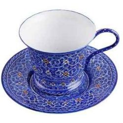 Persian MinaKari, Enameled Tea & Coffee Cups