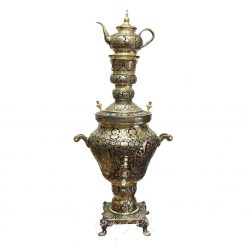 50 Liters Persian Samovar Made of Brass & Silver
