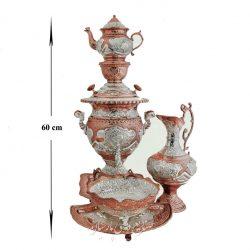 Set of Persian Samovar & Teapot (Brass & silver)