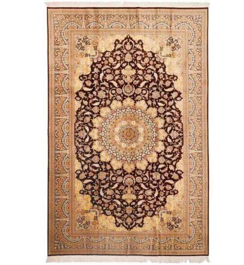 Handmade Persian Silk Carpet, Code 30007