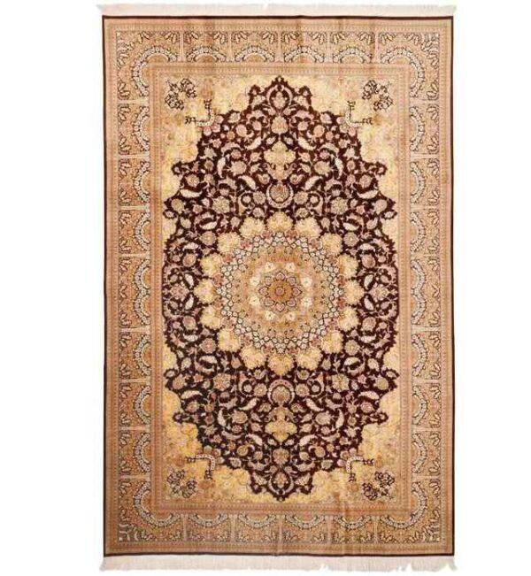 Handmade Persian Silk Carpet 30007