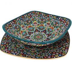 Persian MinaKari, Handmade Bowl & Plate Code 05-13