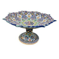 MinaKari Persian Hand Painted Pottery Fruit Dish Model Angel