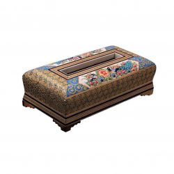 Khatam Kari Handmade Persian Wooden Tissue Box 03