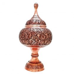 Persian Handmade Engraved Copper Candy bowl 02