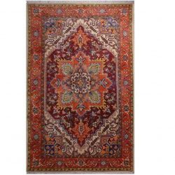 Handmade Persian Heris Wool Carpet 101175