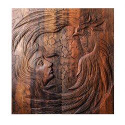 Backgammon Handmade Woodcarving Phoenix