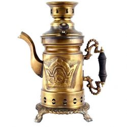 4 liter Persian Coal Samovar (Brass) S810