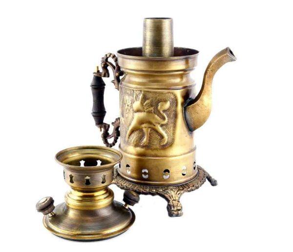 Persian 4 liter Coal Brass Samovar