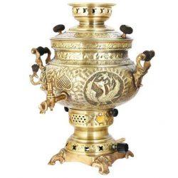 8 liter Persian Gas Brass Samovar