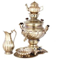 Set of 8 liter Persian Brass Samovar 30
