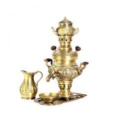 Set of 1 liter Persian Coal Brass Samovar 202