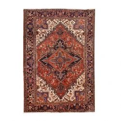 Handmade Persian Heris Wool Carpet Code H1482