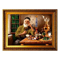 Persian Wall Hanging Tableau Rug, Old Man TA