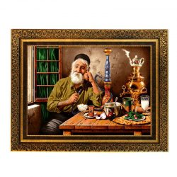 Persian Wall Hanging Tableau Rug, Old Man 7A