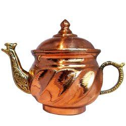 Persian Engraved Handmade Copper Teapot 11