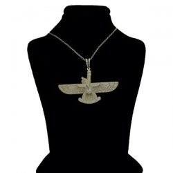 Faravahar Silver Medal with Necklaces Code S394