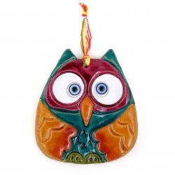 Decorate Clay Pendant, Owl Shape (2x)
