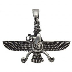 Faravahar Silver Necklace