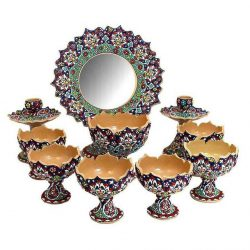 Set of Haft-Sin Pottery Plates 01