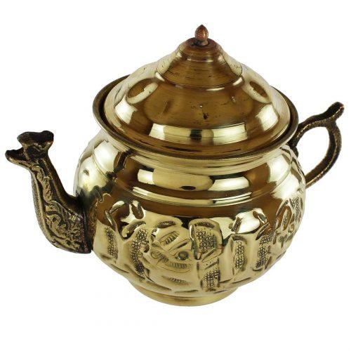 Engraved Handmade Copper Persian tea pot