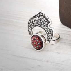 Sterling Silver Ring Handmade Model Parvaz