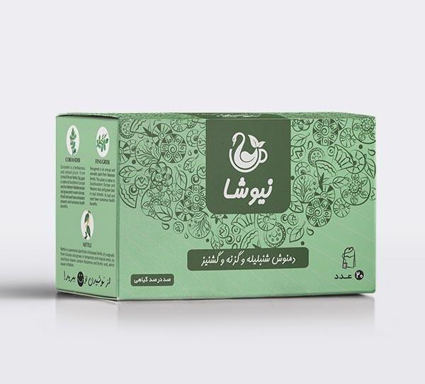 Newsha Herbal Tea, Fenugreek, Nettle & Coriander