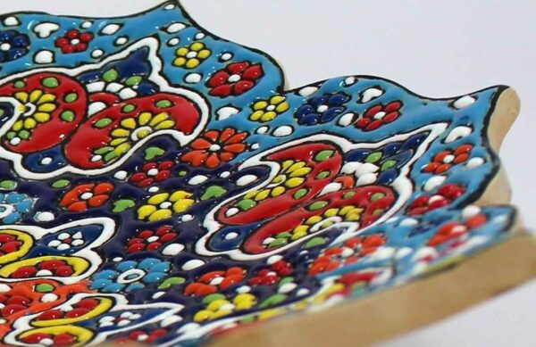 MinaKari Enameled Wall Hanging Plate - Dastnegar