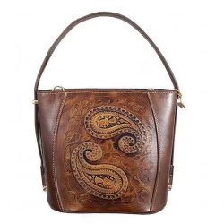 Genuine Leather Woman Shoulder bags, Termeh Design