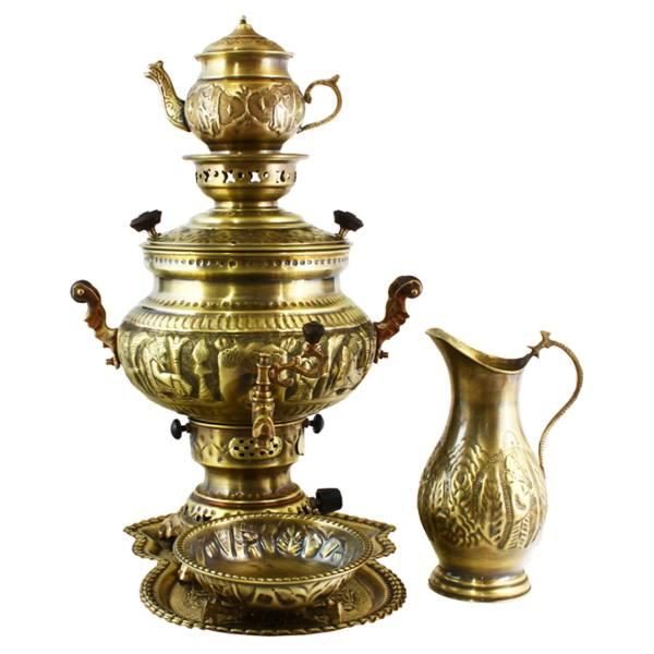 Set of 8 liter Handmade Gas Samovar (Brass)