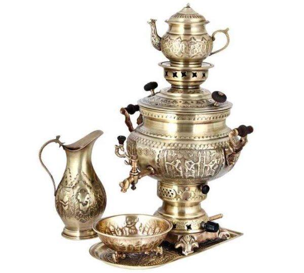 Set of 8 liter Gas Samovar (Brass)