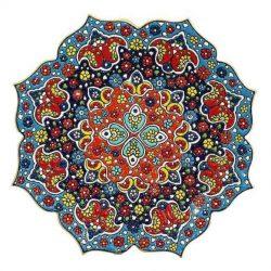 Persian MinaKari Enameled Wall Hanging Plate Code S1156