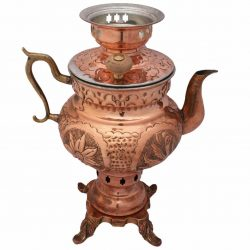 1 Liter Handmade Persian Coal Samovar (Copper)