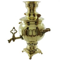 3 Liter Handmade Persian Coal Samovar (Brass)