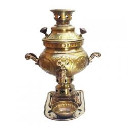 2 Liter Handmade Persian Coal Samovar (Brass)