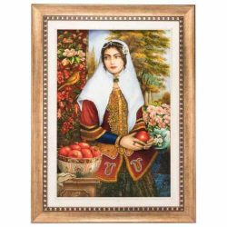 Handmade Persian Tableau Rug Carpet TABLO FARSH, Girl