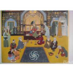 Persian Miniature Hand Painting, Living in the New Age