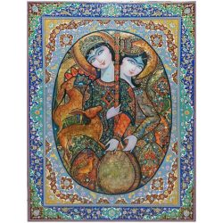 Persian Miniature Hand Oil Painting