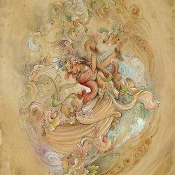 Persian Miniature Watercolor & Gouache Hand Painting