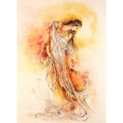 Persian Miniature Hand Painting, Angel Girl