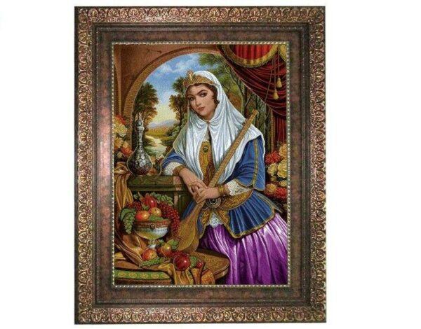 Pictorial Persian Tableau Rug - Girl 7D