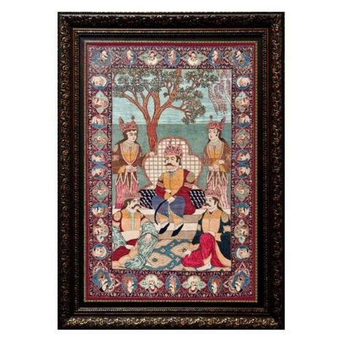 Pictorial Persian Tableau Rug - Abbas the Great