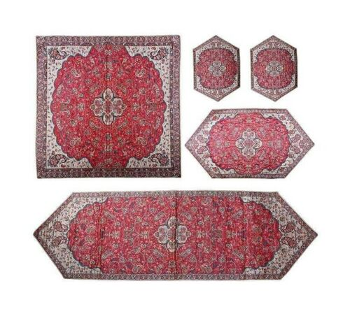 Termeh, Persian Style Tapestry Silk Tablecloth 07