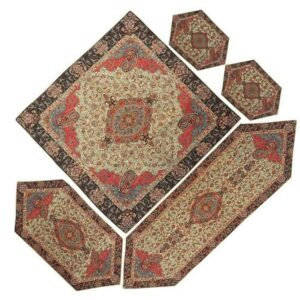 Termeh, Persian Style Tapestry Silk Tablecloth Code 16