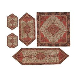 Termeh, Persian Style Tapestry Silk Tablecloth Code 17
