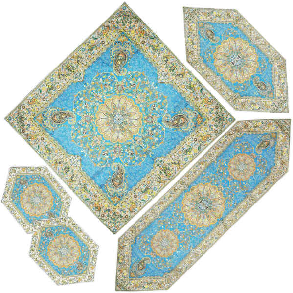 Termeh, Persian Style Tapestry Silk Tablecloth Code 25